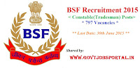 BSF Constable Recruitment 2015