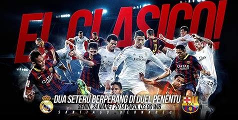 Prediksi Skor Real Madrid vs Barcelona 24 Maret 2014 - Big Match El-Classico