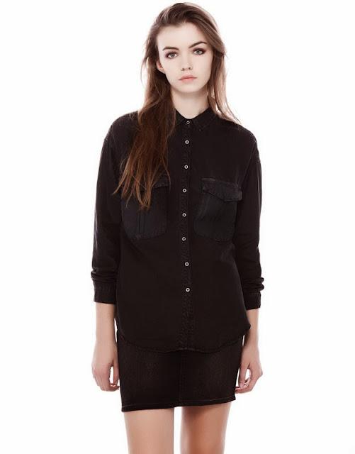 siyah gömlek, salaş gömlek, 2014, pull and bear