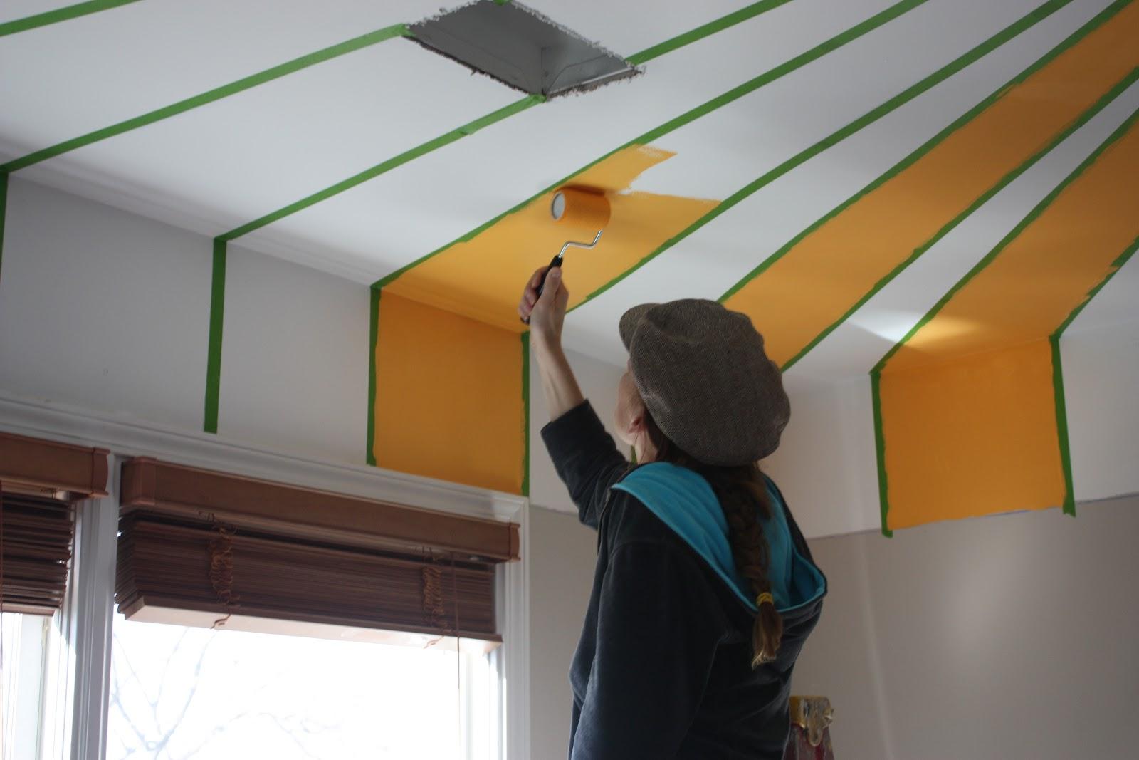 Viva Cindy: The Nursery Part I: A Striped Ceiling
