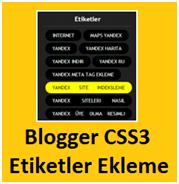 CSS3 İle Blogger Etiketlerini Düzenleme