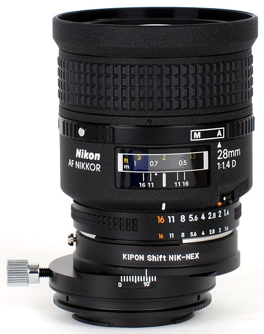sony nex nikon shift lens adapter