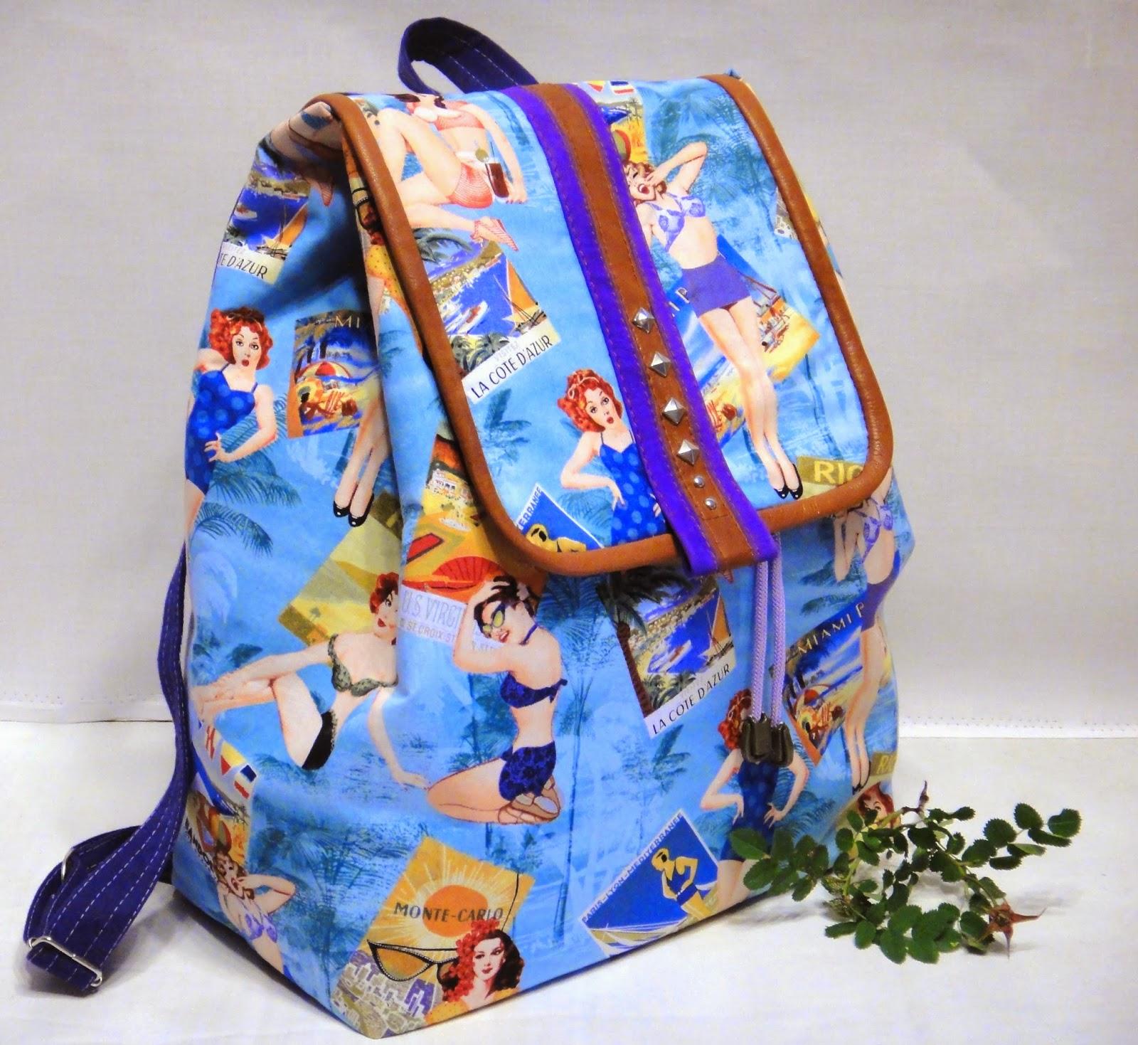 городской рюкзак для девушки из ткани