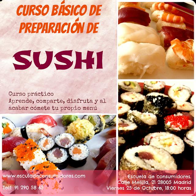 Curso de Sushi en la escuela de consumidores