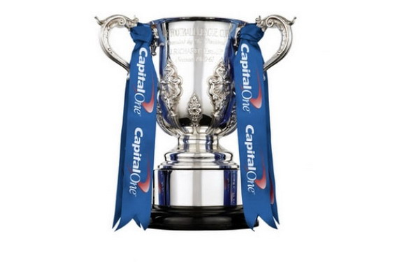 Swansea City take on Bradford City in the final of the Capital One Cup at Wembley