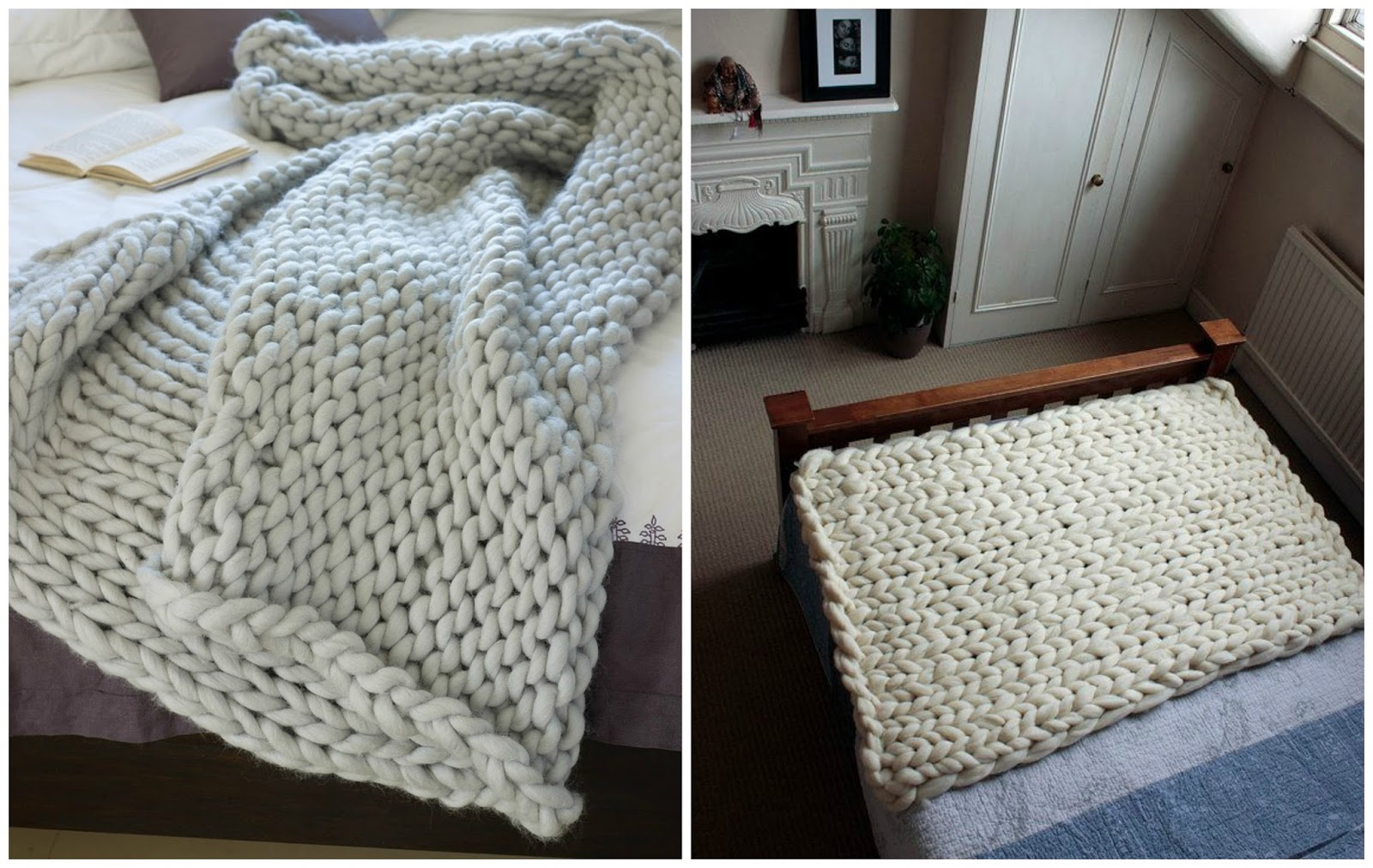 Manta de lana gruesa diy diariodeco - Lana gruesa para tejer ...
