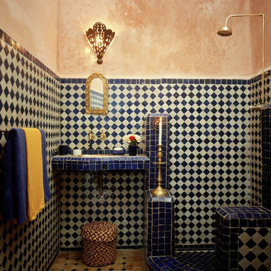 Moon to moon interesting shower rooms - Moroccon bathroom ...