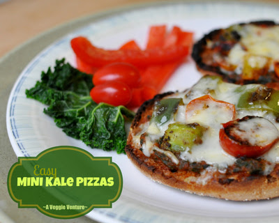 Easy Mini Kale Pizzas
