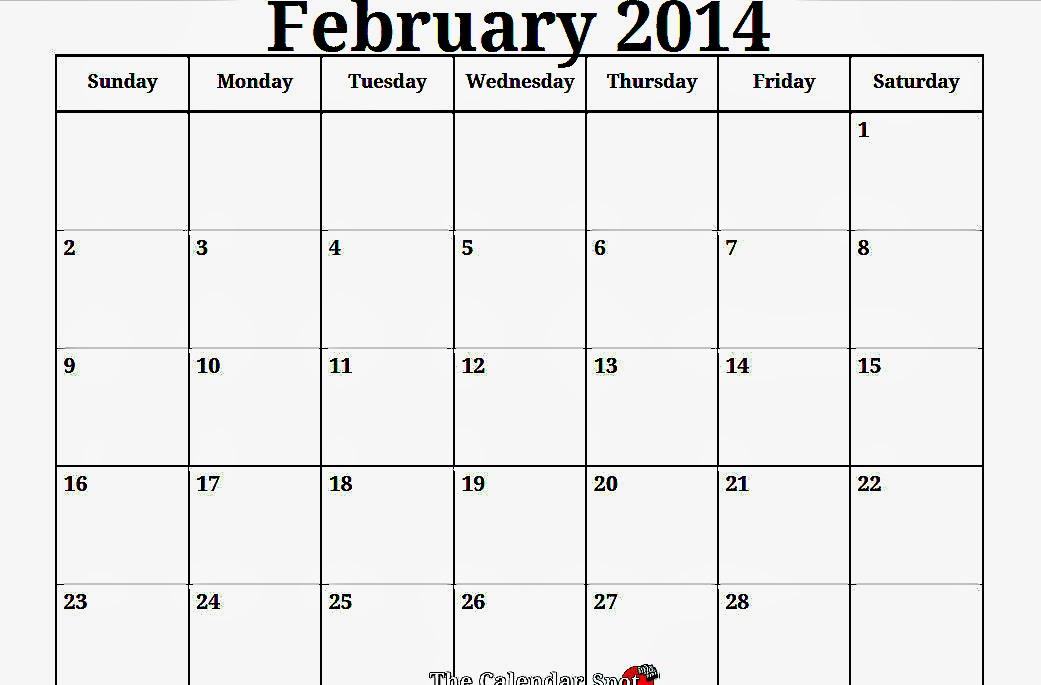 February Calendar Printables : Free printable calendar february