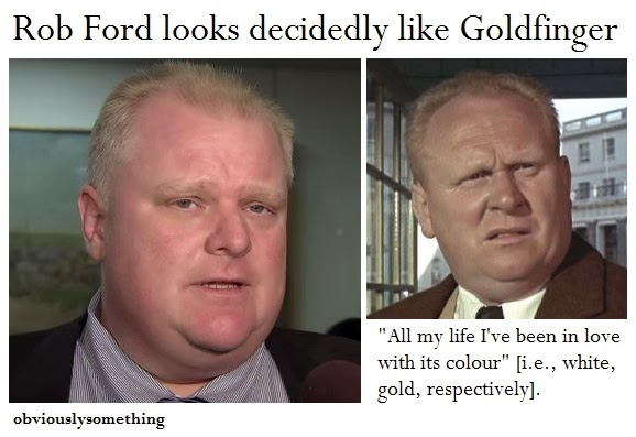 Rob Ford Goldfinger