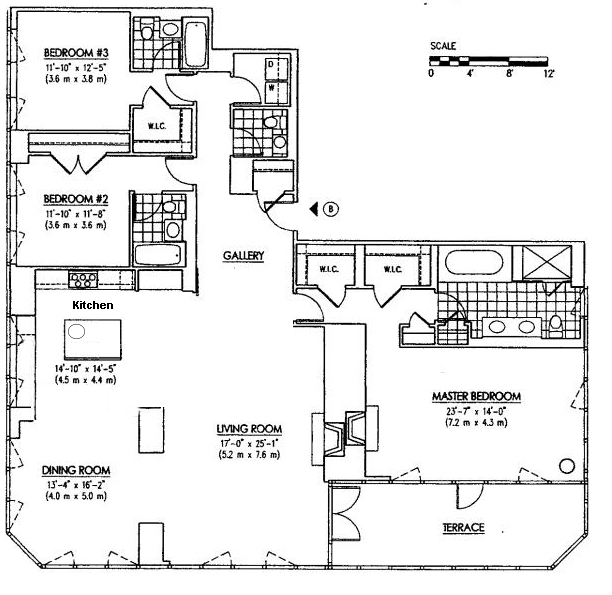 Floor plan of Wolf of Wall Street Manhattan Apartment