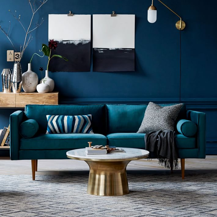 LOVE How Bold This Sofa Is And I Canu0027t Get Enough Of The Rolled Side  Cushions. Not My Husbandu0027s Style At All And Since Compromise Is Part Of The  Deal, ...