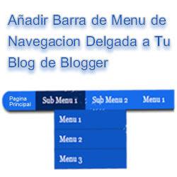 Anadir barra de navegacion de menu liviano a blogger