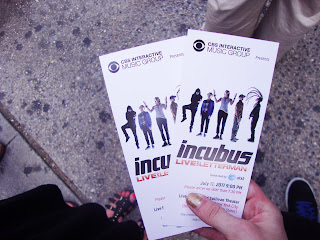incubus new york city 2011