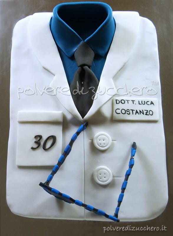torta camice dottore oculista occhiali polvere di zucchero