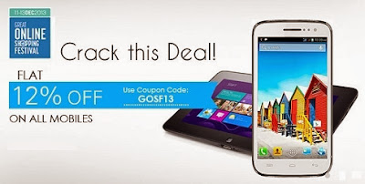 GOSF Sale 13  : Get Flat 12% off on Mobile Phones at Indiatimes (Hurry!! Valid till 13th Dec'13)