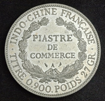 Coins of French Indochina Trade dollar silver coin piastre de commerce