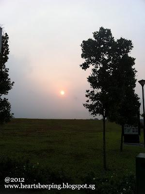 Sun rise during morning Run