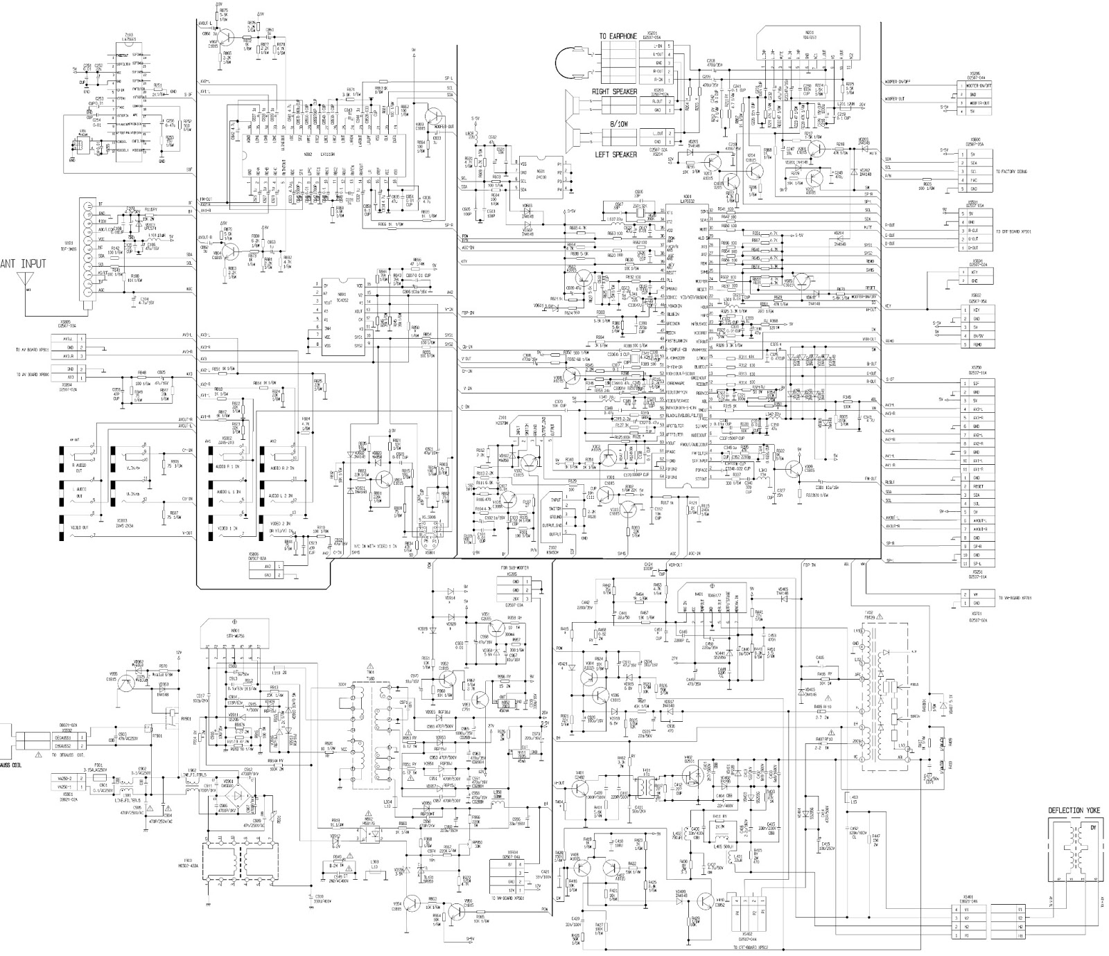 konka kp-2962sz2 - schematic  circuit diagram