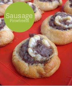 sausage pinwheels on Katy's Kitchen
