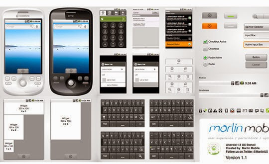 Android 1.6 Wireframe