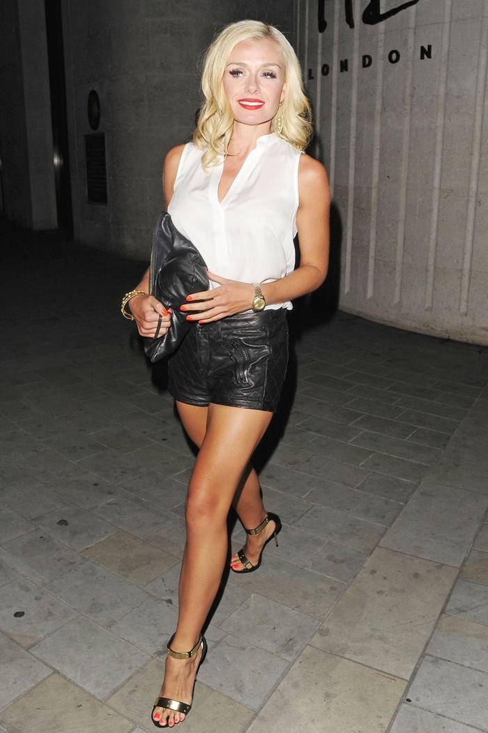 Katherine Jenkins in Shorts, Night Out in London