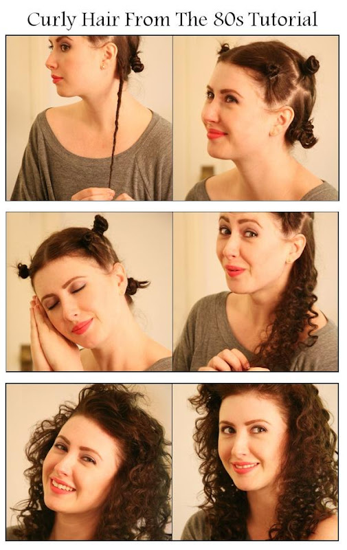 Hairstyles tips and tutorial: Make A Curly Hair From The 80s