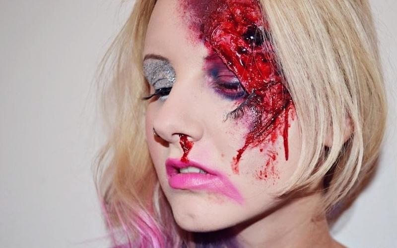 Halloween-Makeup-Verletzung