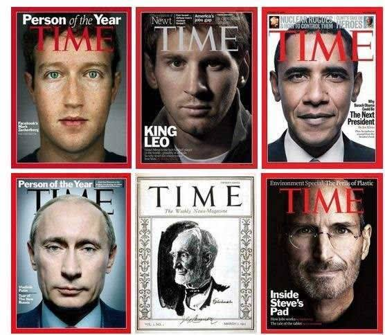 Time Magazine didn't have enough courage to cover Putin's face with a title
