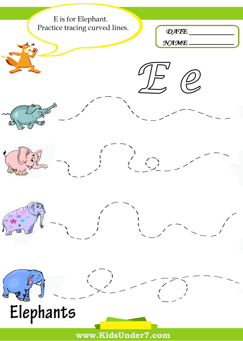Free Worksheet Letter E Worksheets For Preschool kids under 7 letter e worksheets worksheets
