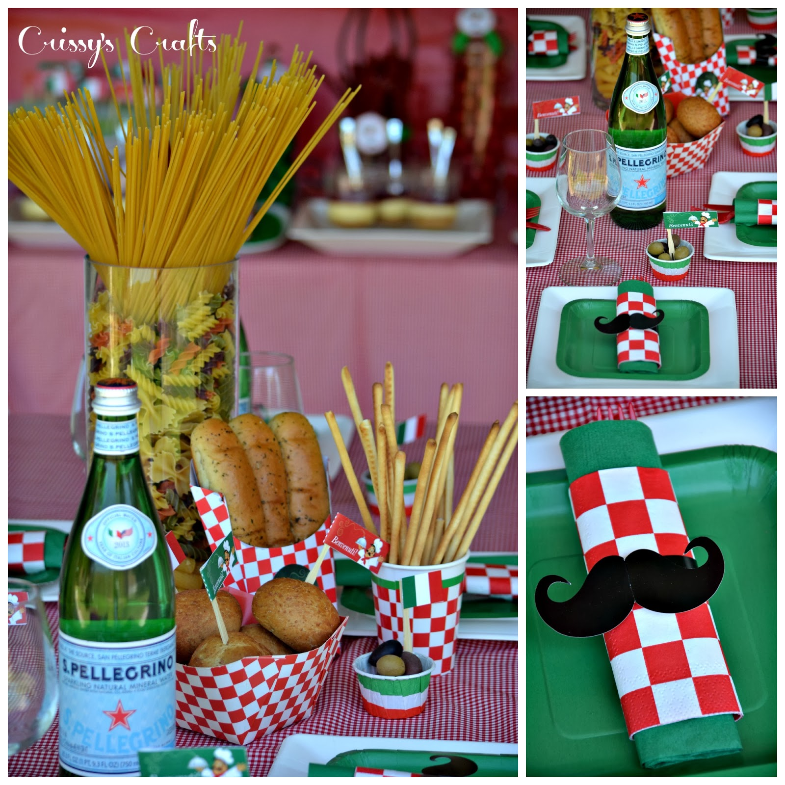 Italian Restaurant Decoration Supply : Crissy s crafts girl scouts italian night simple meals