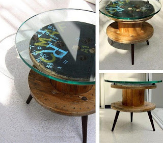 Muebles Reciclados con Carretes de Madera