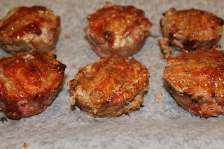 Mini beef and bacon meatloaves