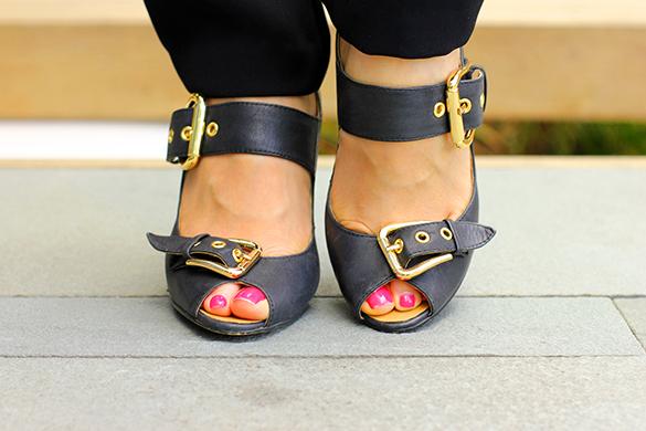 Tony Bianco Black Strap Heels