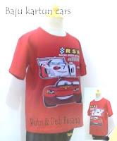 baju kartun anak motif cars