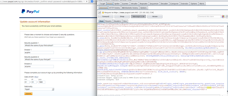 Hacking PayPal Account with Just a Click... CSRF Exploit