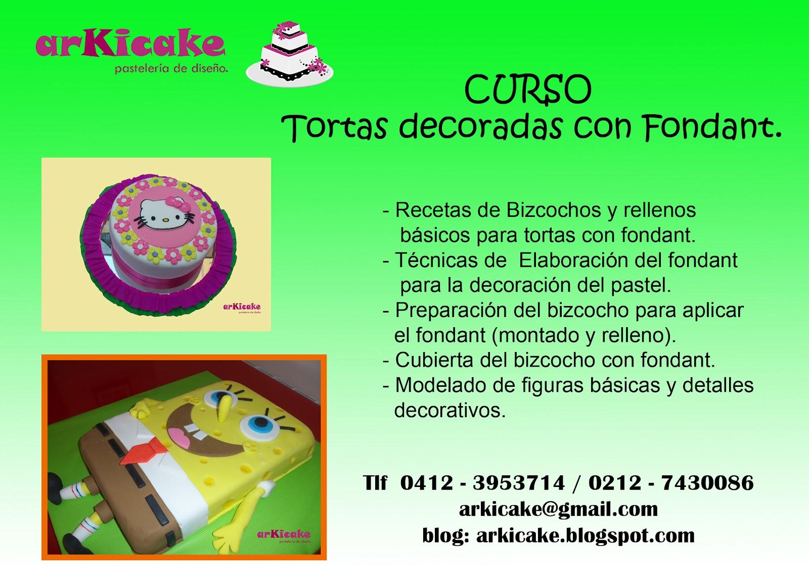 Arkicake cursos decoraci n de tortas for Cursos de decoracion