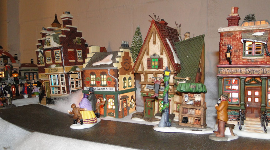passion for the past my dept 56 dickens village display for 2011. Black Bedroom Furniture Sets. Home Design Ideas
