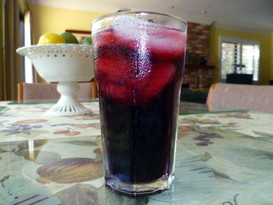 LEMON CHIFFON CAKE: Hibiscus Tea (Agua de Jamaica)