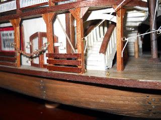 escalera maqueta de barco
