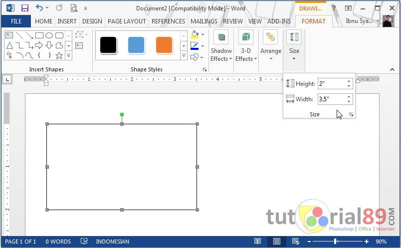 Cara mudah membuat kartu nama di Microsoft word