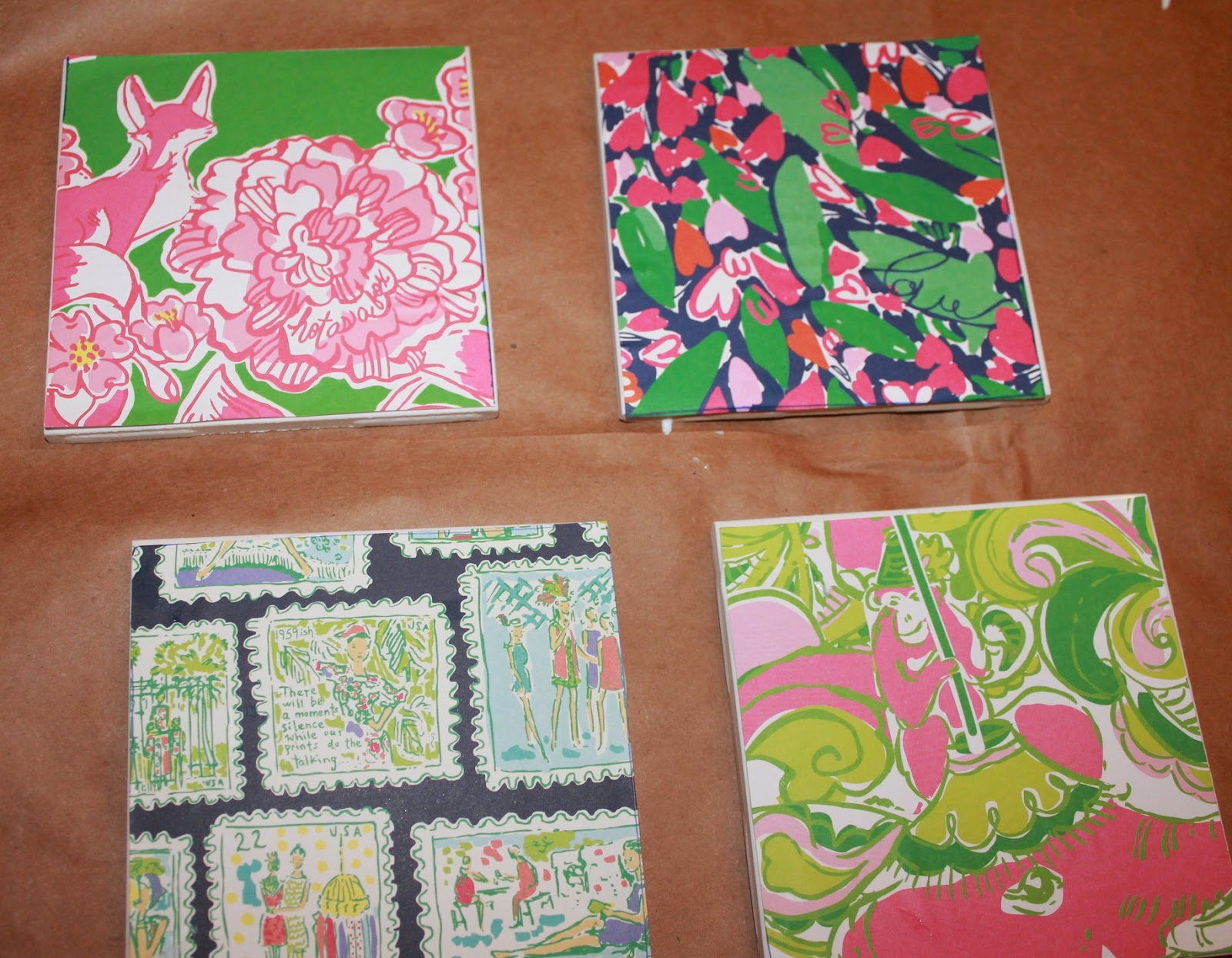 lilly pulitzer coaster tutorial diy