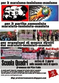 La Scuola Quadri di proletari comunisti PCm Italia