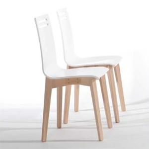 precio silla cocina nordica madera blanco