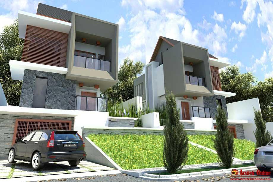 desain tampak rumah arsitek