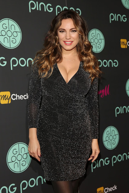 Actress, Model @ Kelly Brook - Ping Pong restaurant launch & Christmas party in London