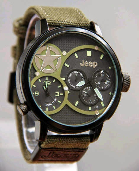 Jeep Kanvas Dual Time hijau tua
