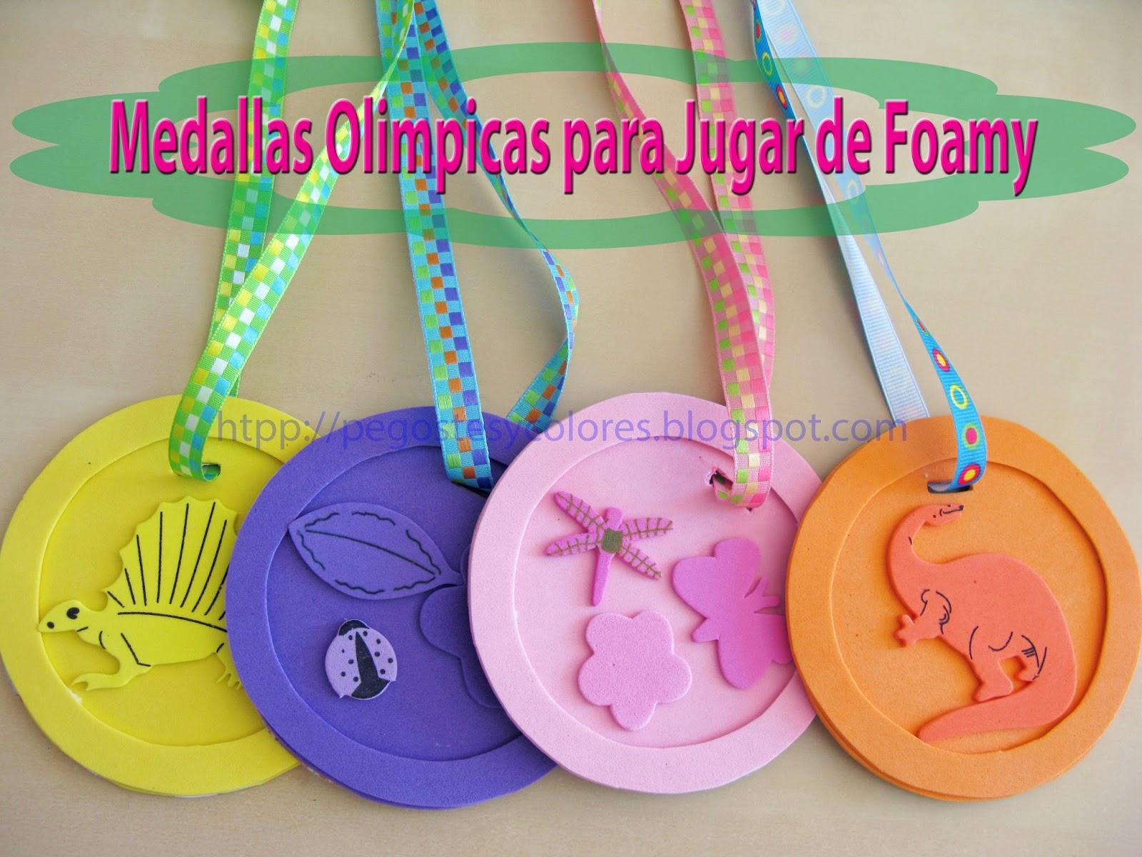 Pegostes y Colores: Medallas Olimpicas para Jugar de Foamy