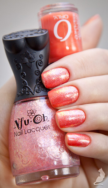 Orly Orange Sorbet + Nfu-Oh #48