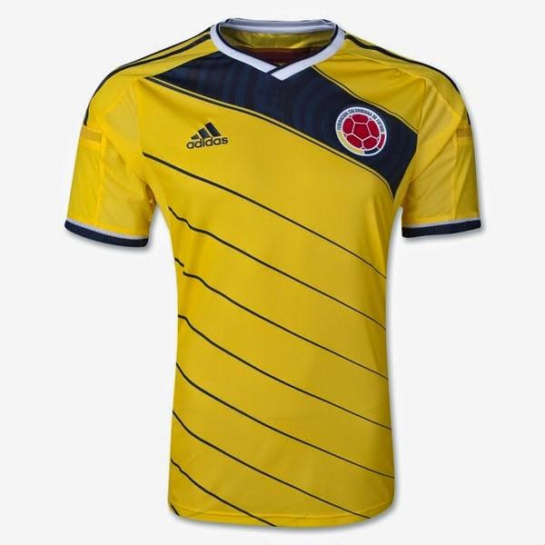 Kostum Timnas Kolombia Piala Dunia 2014